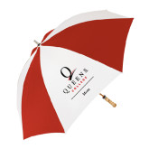 62 Inch Red/White Vented Umbrella-Mom