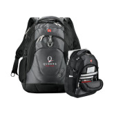 Wenger Swiss Army Tech Charcoal Compu Backpack-Official Logo