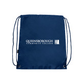 Navy Drawstring Backpack-Official Logo