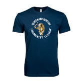 Next Level SoftStyle Navy T Shirt-Queensborough Tigers