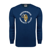 Navy Long Sleeve T Shirt-Queensborough Tigers