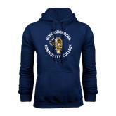 Navy Fleece Hoodie-Queensborough Tigers