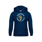 Youth Navy Fleece Hoodie-Queensborough Tigers