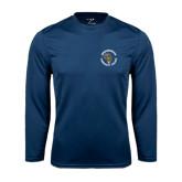 Performance Navy Longsleeve Shirt-Queensborough Tigers