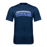 Performance Navy Tee-Arched Queensborough Tigers