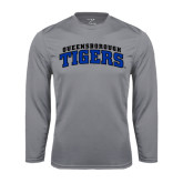 Performance Steel Longsleeve Shirt-Arched Queensborough Tigers