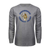 Grey Long Sleeve T Shirt-Queensborough Tigers