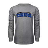 Grey Long Sleeve T Shirt-Arched Queensborough Tigers