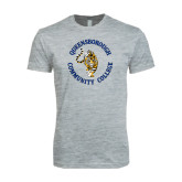 Next Level SoftStyle Heather Grey T Shirt-Queensborough Tigers