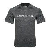 Under Armour Carbon Heather Tech Tee-Official Logo