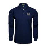 Navy Long Sleeve Polo-Queensborough Tigers