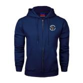 Navy Fleece Full Zip Hoodie-Queensborough Tigers
