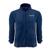Fleece Full Zip Navy Jacket-Official Logo