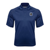 Navy Textured Saddle Shoulder Polo-Queensborough Tigers