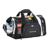 High Sierra Black 22 Inch Garrett Sport Duffel-Official Logo