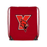 Red Drawstring Backpack-Cardinal