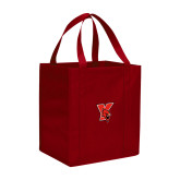 Non Woven Red Grocery Tote-Cardinal