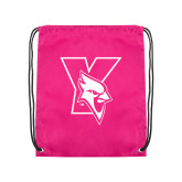 Pink Drawstring Backpack-Cardinal