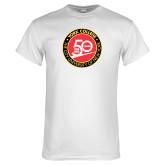 White T Shirt-York College 50th Anniversary