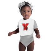 White Baby Bib-Cardinal