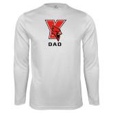 Performance White Longsleeve Shirt-Dad