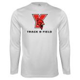 Performance White Longsleeve Shirt-Track & Field