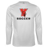 Performance White Longsleeve Shirt-Soccer