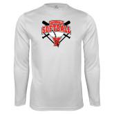 Performance White Longsleeve Shirt-Cardinals Softball
