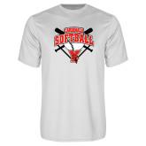 Performance White Tee-Cardinals Softball
