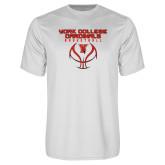 Performance White Tee-York College Cardinals Basketball