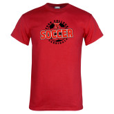 Red T Shirt-York College Soccerball