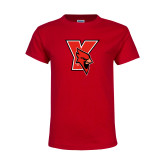 Youth Red T Shirt-Cardinal
