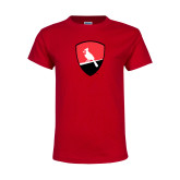 Youth Red T Shirt-Shield Logo