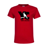 Youth Red T Shirt-YC with Perched Cardinal