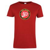 Ladies Red T Shirt-York College 50th Anniversary