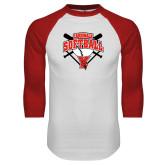 White/Red Raglan Baseball T-Shirt-Cardinals Softball