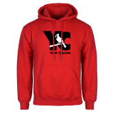 Red Fleece Hoodie-YC with Perched Cardinal