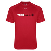 Under Armour Red Tech Tee-York College with CUNY Square