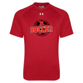 Under Armour Red Tech Tee-York College Soccerball