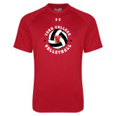 Under Armour Red Tech Tee-Volleyball Circle