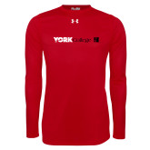 Under Armour Red Long Sleeve Tech Tee-York College with CUNY Square