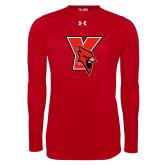 Under Armour Red Long Sleeve Tech Tee-Cardinal