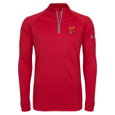 Under Armour Red Tech 1/4 Zip Performance Shirt-Cardinal