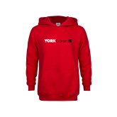 Youth Red Fleece Hoodie-York College with CUNY Square