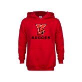 Youth Red Fleece Hoodie-Soccer