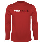 Performance Red Longsleeve Shirt-York College with CUNY Square