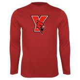 Performance Red Longsleeve Shirt-Cardinal