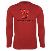 Performance Red Longsleeve Shirt-Track & Field