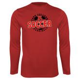 Performance Red Longsleeve Shirt-York College Soccerball