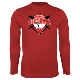 Performance Red Longsleeve Shirt-Cardinals Softball